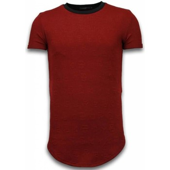 Kleidung Herren T-Shirts Justing D Encrypted Long Zipped Bordeaux