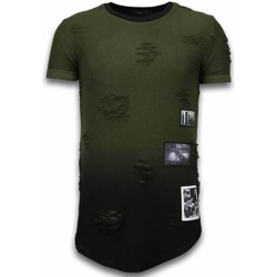 Kleidung Herren T-Shirts Justing Pictured Flare Effect Long Dual Ed Grün