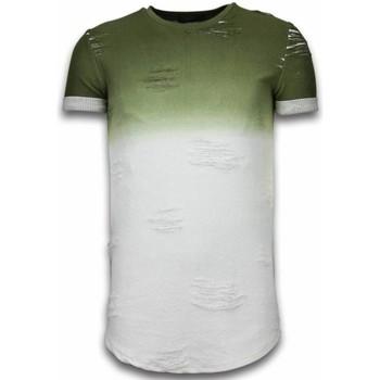 Kleidung Herren T-Shirts Justing Flare Effect Long Fi Dual Ed Weiß, Grün