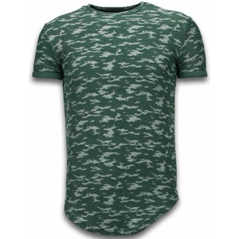 Kleidung Herren T-Shirts Justing Fashionable Camouflage Long Army Pattern Grün