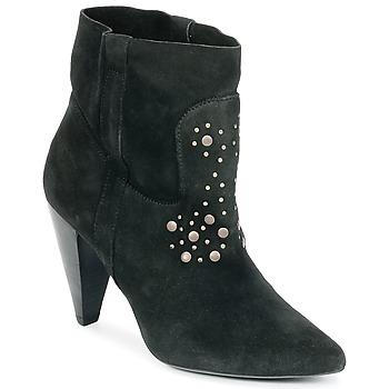 Schuhe Damen Low Boots Ikks BOTTINE PAISLEY Schwarz