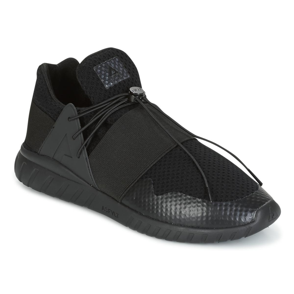Asfvlt EVOLUTION MID Schwarz - Kostenloser Versand bei Spartoode ! - Schuhe Sneaker Low Herren 69,50 €
