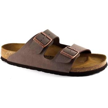 Schuhe Herren Pantoffel Birkenstock ARIZONA 151183 Mokka braune Slipper Mann Schnallen Marrone