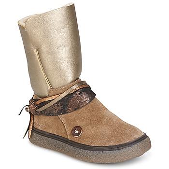 Schuhe Mädchen Klassische Stiefel Catimini ROUGEGEORGE Maulwurf / Kupfer