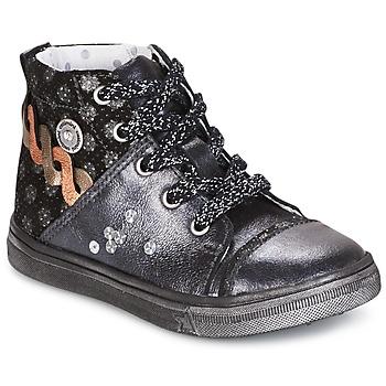 Schuhe Mädchen Boots Catimini ROUSSEROLLE Grau / Silbern