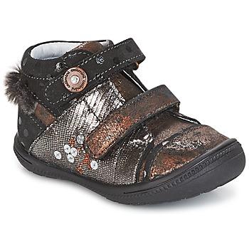 Schuhe Mädchen Boots Catimini ROSSIGNOL Schwarz / Kupfer