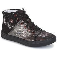 Schuhe Mädchen Boots Catimini ROUSSEROLLE Schwarz / Kupfer