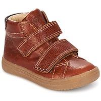 Schuhe Jungen Sneaker High GBB NAZAIRE Stein / Kaffee