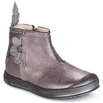 Schuhe Mädchen Boots GBB ROMANE Grün / gelb / schwarz / Rose