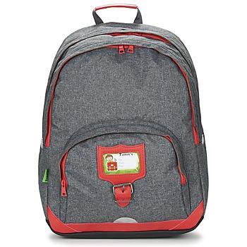 Taschen Kinder Rucksäcke Tann's CLASSIC SAC A DOS L Grau / Rot