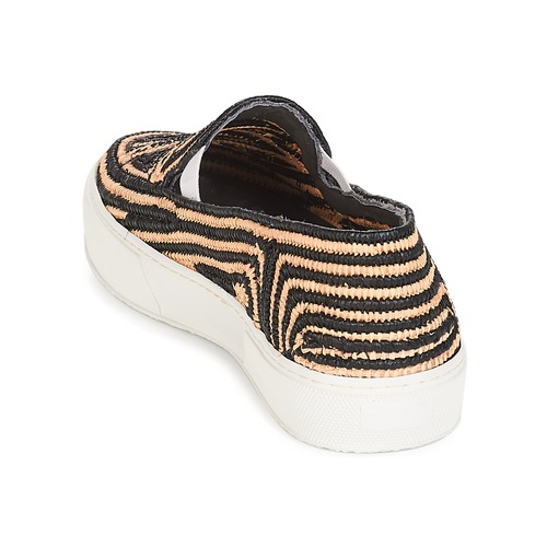Robert Clergerie  Schwarz / Beige  Schuhe Slip on Damen 263,20
