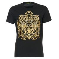 Kleidung Herren T-Shirts Versace Jeans B3GQB7T2 Schwarz / Goldfarben