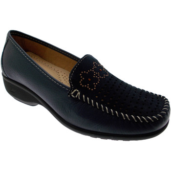 Schuhe Damen Slipper Calzaturificio Loren LOK3971bl blu