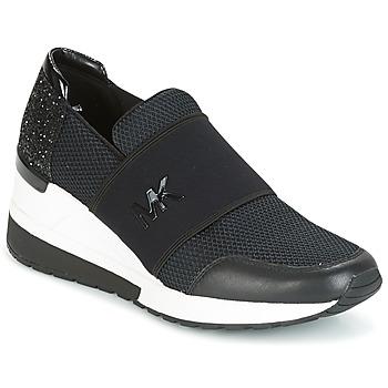 Schuhe Damen Sneaker Low MICHAEL Michael Kors FELIX TRAINER Schwarz