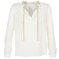 Kleidung Damen Tops / Blusen MICHAEL Michael Kors SLIT L/S CHAIN Creme