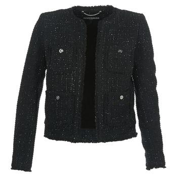 Kleidung Damen Jacken / Blazers MICHAEL Michael Kors FRAY TWD 4PKT JKT Schwarz / Silbern