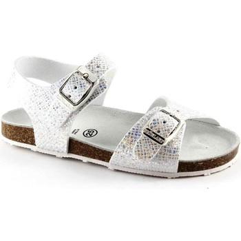 Schuhe Kinder Sandalen / Sandaletten Grunland GRÜNLAND AFRE SB0812 20/28 silber weiß Baby Sandale Schnallen Argento