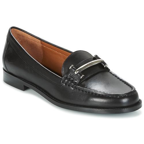 ralph lauren flynn schwarz kostenloser versand bei schuhe slipper damen 90 30. Black Bedroom Furniture Sets. Home Design Ideas