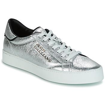 Schuhe Herren Sneaker Low John Galliano FIUR Silbern
