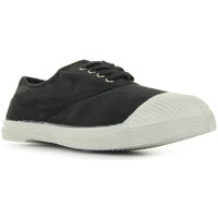 Schuhe Herren Sneaker Low Bensimon Tennis Lacets Carbone
