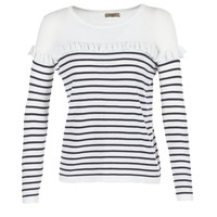 Kleidung Damen Pullover Betty London HOMI Marine / Weiss