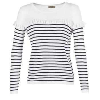 Kleidung Damen Pullover Betty London HOMI Marine / Weiss
