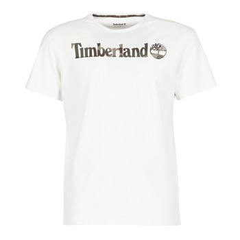 Kleidung Herren T-Shirts Timberland DUNSTAN RIVER CAMO PRINT Weiss