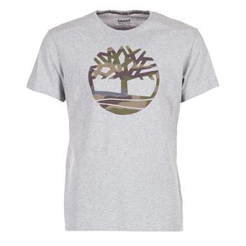 Kleidung Herren T-Shirts Timberland DUNSTAN RIVER CAMO PRINT Grau