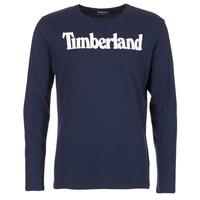 Kleidung Herren Langarmshirts Timberland LINEAR LOGO PRINT RINGER Marine