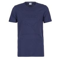 Kleidung Herren T-Shirts Puma ARCHIVE EMBOSSED LOGO TEE Marine