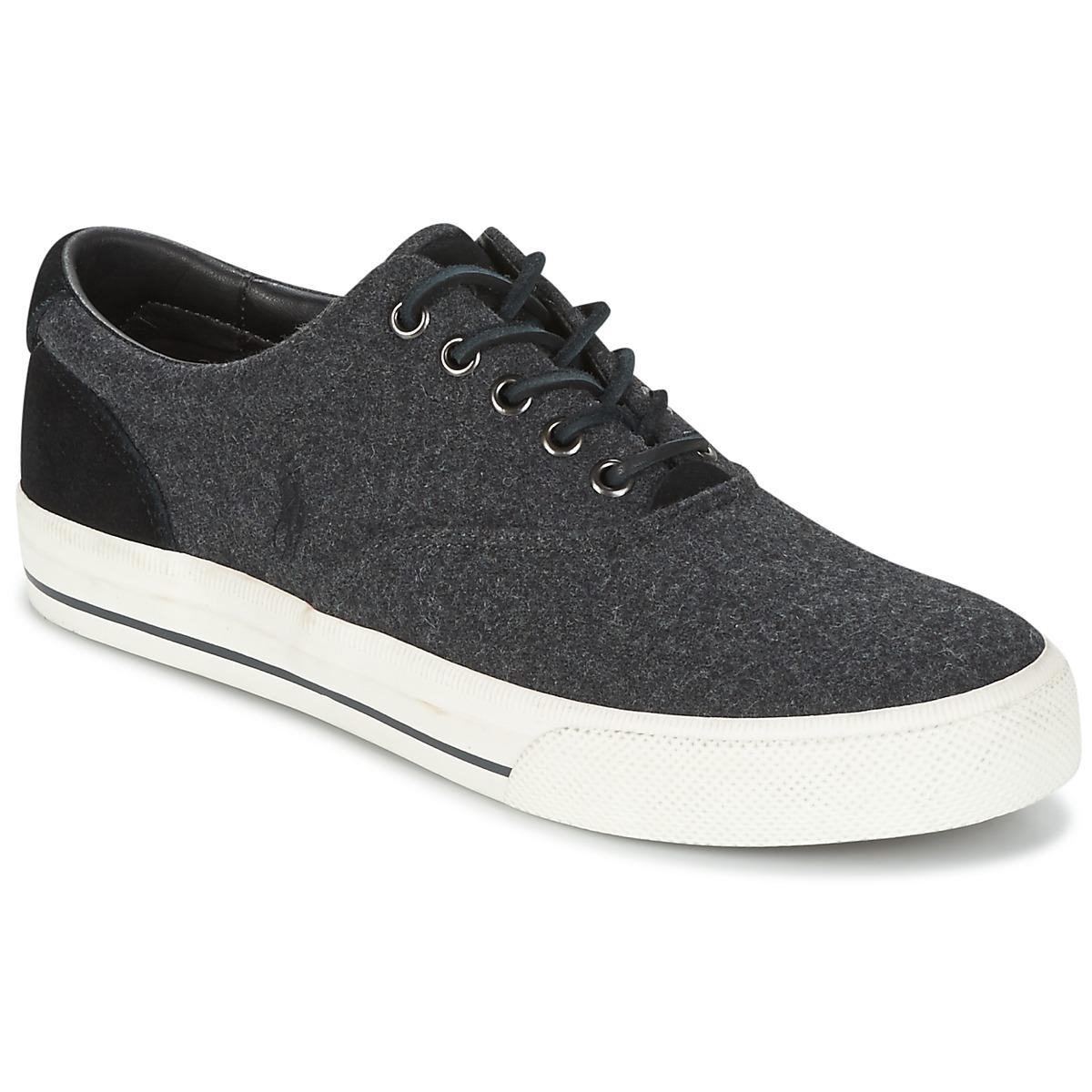 Polo Ralph Lauren VAUGHN Grau - Kostenloser Versand bei Spartoode ! - Schuhe Sneaker Low Herren 79,19 €
