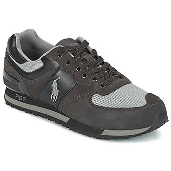 Schuhe Herren Sneaker Low Ralph Lauren SLATON PONY Schwarz / Grau