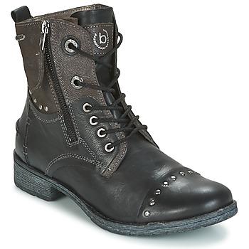 Schuhe Damen Boots Bugatti PIERA Schwarz / Grau