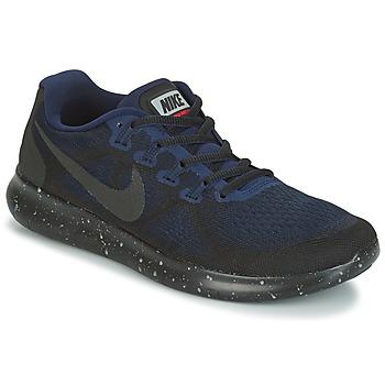 Schuhe Damen Laufschuhe Nike FREE RUN 2017 SHIELD Schwarz / Blau
