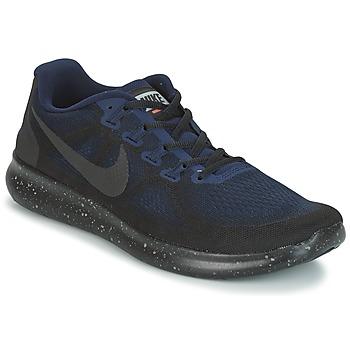 Schuhe Herren Laufschuhe Nike FREE RUN 2017 SHIELD Schwarz / Blau