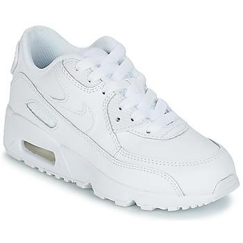 Schuhe Jungen Sneaker Low Nike AIR MAX 90 LEATHER PRE-SCHOOL Weiss