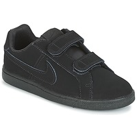 Schuhe Jungen Sneaker Low Nike COURT ROYALE PRE-SCHOOL Schwarz