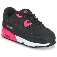 Schuhe Mädchen Sneaker Low Nike AIR MAX 90 LEATHER TODDLER Schwarz / Rose