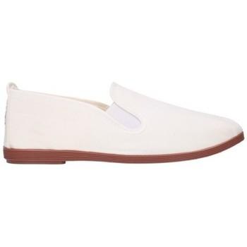 Schuhe Herren Leinen-Pantoletten mit gefloch Potomac 295 (C) - Blanco blanc