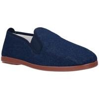 Schuhe Herren Leinen-Pantoletten mit gefloch Potomac 295   (C) bleu
