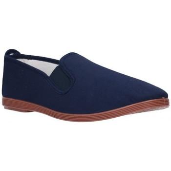 Schuhe Herren Leinen-Pantoletten mit gefloch Potomac lonas hombre - bleu