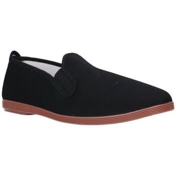 Schuhe Herren Leinen-Pantoletten mit gefloch Potomac lonas hombre - noir