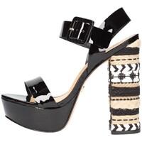 Schuhe Damen Sandalen / Sandaletten Vicenza 287003 Viccini schwarz