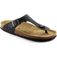 Schuhe Herren Zehensandalen Grunland GRÜNLAND ROBI CB2008 Anthrazit Pantoffeln Flip-Flops Mann Birk Nero