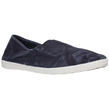Schuhe Herren Leinen-Pantoletten mit gefloch Natural World 305E Hombre Azul marino bleu