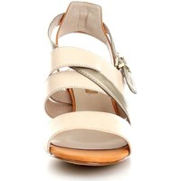 Schuhe Damen Sandalen / Sandaletten Luciano Barachini 8052A Sandalen Frau Bone/Orange/Platinum Bone/Orange/Platinum