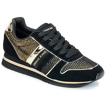 Schuhe Damen Sneaker Low Versace Jeans LETRE Schwarz / Goldfarben
