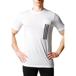 Kleidung Herren T-Shirts adidas Originals ID 3 Stripes Pocket Tee Weiss