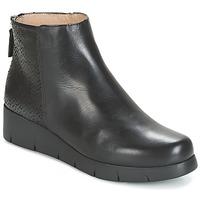 Schuhe Damen Boots Unisa FANI Schwarz