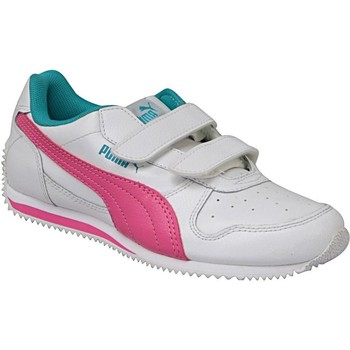 Schuhe Kinder Sneaker Low Puma Fieldsprint L V PS Weiß